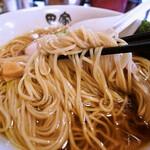 中華そば 田家 - 自家製の麺