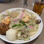 中国菜館 江山楼 - 特上皿うどん(細麺)
