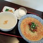衣正家 - 麺と中華粥のハーフ&ハーフ