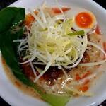 Ramen光鶏 - SNS限定 濃厚鶏担々麺 裏 塩バージョン(1000円税込)の麺大盛り(トッピング無料スタンプカード使用)