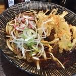 嵯峨谷 - 天ぷらそば。たまたまかき揚げ小?