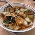 味道 - 料理写真:豚肉と五目野菜のあんかけラーメン