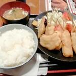 Kushikatsudengana - 串カツC定食 980円