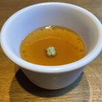 八寸 - 冷製茶碗蒸し