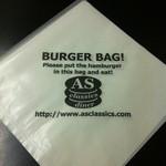 エーエス クラシックス ダイナー - ハンバーガーの包み紙はオリジナル