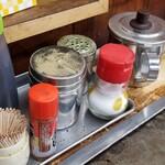 151855689 - 最初にハケで塗るのは「ブラザーお好みソース」                       適度な酸味とまろやかな甘味が絶妙                       後から塗るのは「ブラザーどろからソース」                       昆布出汁&山芋を小麦粉に混ぜ込み生地を作り、「味の素」も投入されている