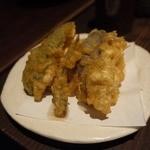 魚料理 ろっこん - お造りのセットの天ぷらです