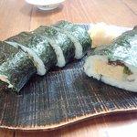 蕎麦切りmasa - 撮影(新しいケータイ、2012年)。巻き寿司  950円