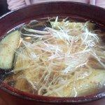 蕎麦切りmasa - 撮影(新しいケータイ、2012年)。茄子と茗荷 (なす と みょうが)  940円
