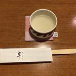 そば処 卓 - 卓さんでは胃腸を気遣って最初にそば湯が出ます(,,^_^,,)