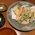 そば処 卓 - 季節のお天ぷら♡大好きです!お塩で食べても天つゆと大根おろしで食べても。