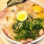 空ノ色 - 料理写真:濃厚チャーシュー麺1,200円+生卵50円