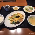 中国料理 空 - 豚肉ときくらげの卵炒めランチセット