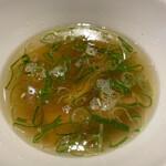 中華soba いそべ - 白旨特製つけ麺(大盛り)