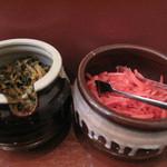 まるうまラーメン - 辛子高菜も合います。