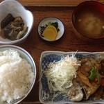 15190179 - 日替わり定食(アマギの甘酢あんかけ)