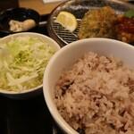札幌ザンギ本舗 - 十六穀米中とキャベツおかわり 2021.