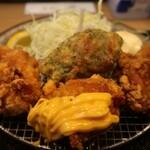札幌ザンギ本舗 - バラエティジャンボザンギ定食 2021.