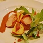 レストランキハチ - 料理写真:ポークとポテトのロースト、ボルチーニのソース添え