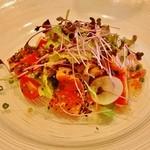 レストランキハチ - 前菜(鮮魚のカルパッチョ)