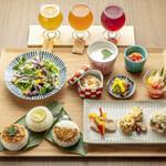 京のSAKESORA - 数量限定ランチ(三味イロイロランチ)と飲み比べセット