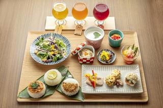 京のSAKESORA - 土日限定ランチ(三味イロイロランチ)と飲み比べセット