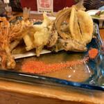 かもん亭 - キス、イカ、タコ天ぷら