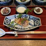 柚子屋旅館 - 銀鱈の西京焼 なめろう とろろ ちりめん