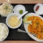 台湾料理 福来順 - 料理写真:日替わりのエビチリ卵680円