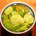 高太郎 - 蛤と天豆の茶碗蒸し