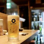 天ぷらと日本酒 明日源 - 天ぷらとビールが最高!