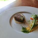 五風十雨 - 牛テールのテリーヌ、エシャロットソース(前菜)