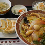 餃子の福来 - 中華丼セット 900円