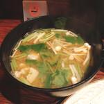 とんかつ カトレヤ - 味噌汁最高