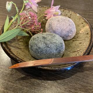 道盅庵 - 料理写真:しそ餅 よもぎ餅