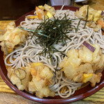 歌舞伎そば - かき揚げざる蕎麦。