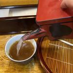 歌舞伎そば - 蕎麦湯はサラサラ。