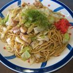 蛸八 - 料理写真:焼きそば(かしわ・タレ) 550円