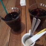 薪釜屋 ciao - アイスコーヒーとアイスティー