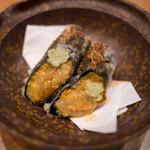 もっこす - うにを海苔で巻いた天ぷら