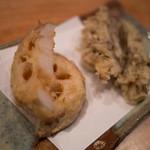 もっこす - 蓮根と舞茸