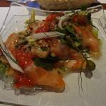 15197554 - 前菜:サーモンサラダ