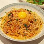 トンテキ食堂8 - カルチリ カルボ風チリトマト(800円)