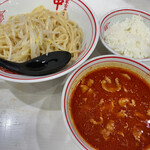 蒙古タンメン中本 - 冷やし味噌ラーメン+小ライス(820円+APPクーポン)