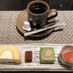 SHIMOMURA - [甘味]シモムラロール・ショコラ・抹茶豆腐・スイカのジュレ ●ほぼ洋ですが、シモムラロールのクリームが濃厚です。