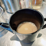 バサノバ - つけソバの割りスープ(豚骨スープ)