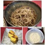 殻の三光橋 - ◆金平牛蒡は、細くスライスされ美味しい。 ◆玉子焼きは優しい味わい。 ◆たっぷりの「タルタルソース」