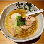 鶏そば 山もと - 料理写真:特製塩生姜そば 1000円