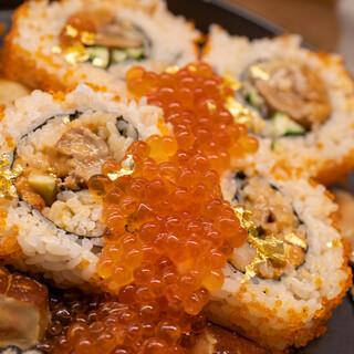 あじわい回転寿司 禅 - 料理写真:2021.5 強烈メタボ巻(4,300円)フォアグラ、ウニ、イクラ、金粉入り