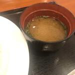 湯花楽 - 味噌汁
